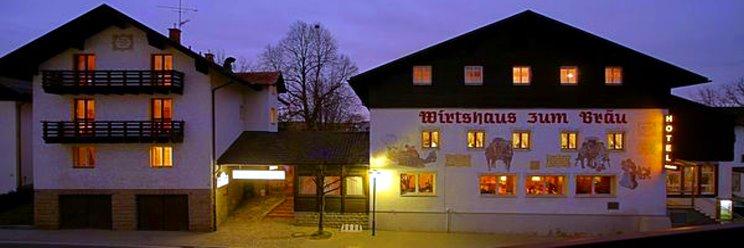 Ansicht vom Hotel Früchtl in Zandt und Wirtshaus zum Bräu