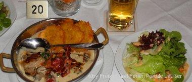 Frühstück und Abendessen in der Ferienwohnung mit Halbpension im Bayerischen Wald