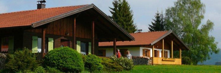 Bayerischer Wald Ferienhütten Ansicht