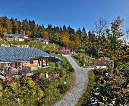 Bergdorf Hüttenhof Luxus Ferienhütten am Berg Haidel