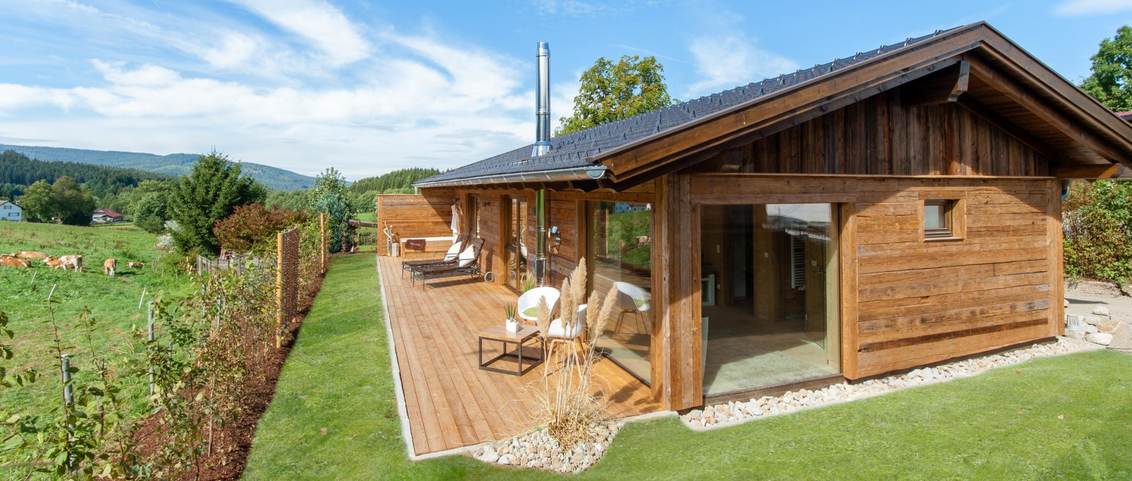 Luxus Chalets der Pension Köpplwirt Drachselsried