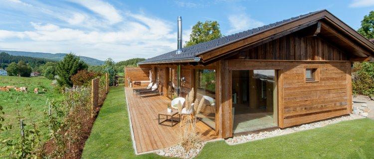 Bayerischer Wald Chalet mit Sauna und Whirlpool Ansicht außen
