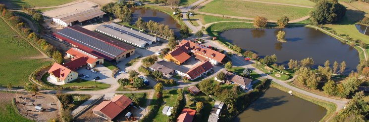 Reiterhof in der Oberpfalz Reiterferien am Kollerhof Luftbild