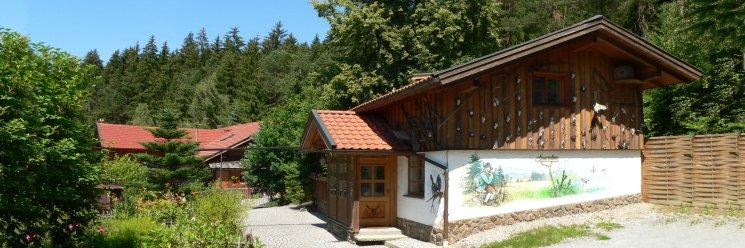 Jagdhütte im Bayerischen Wald Ansicht