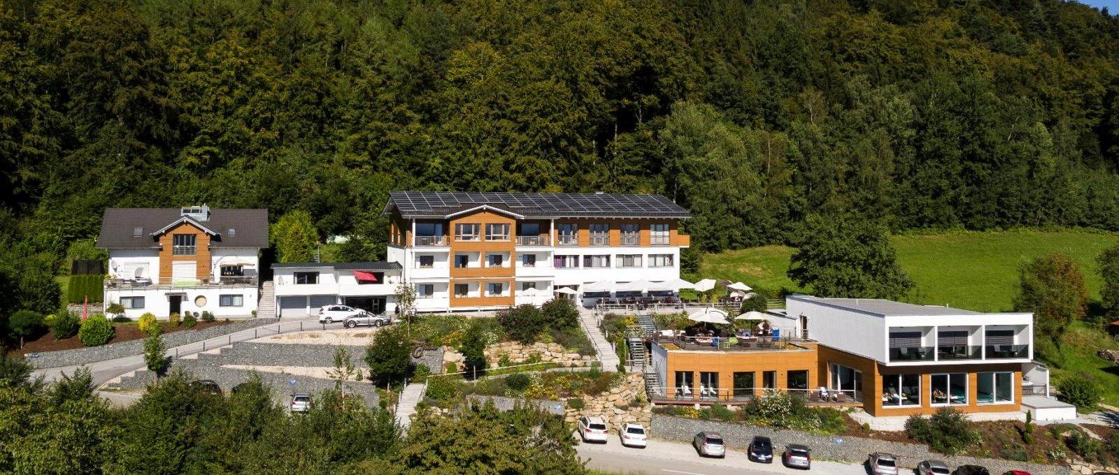 Bayerischer Wald Wellnesshotel Thula Landkarte Lalling