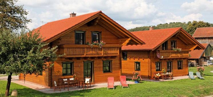 Holzferienhaus mieten in Bayern am Bauernhof Wenzl Ansicht